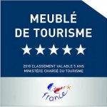 Panneau classement meublés de tourisme 5 étoiles